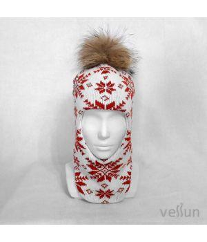 Шапка шлем Снегопад