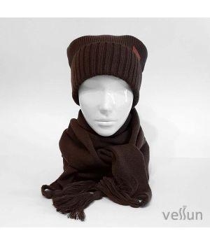 Комплект Стиль города шапка и шарф бактус