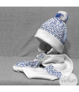 Комплект Геометрия шапка и шарф