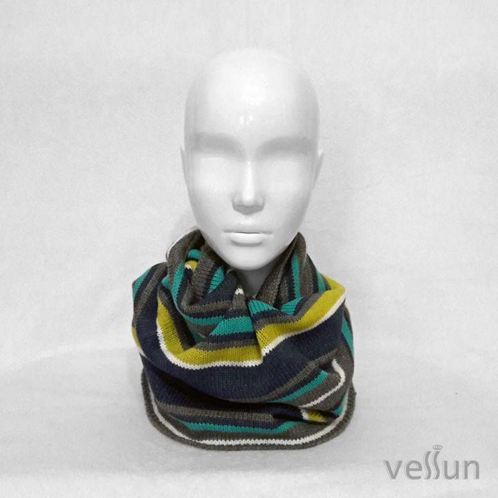 Стильный шарф - снуд в один оборот для мальчика или девочки