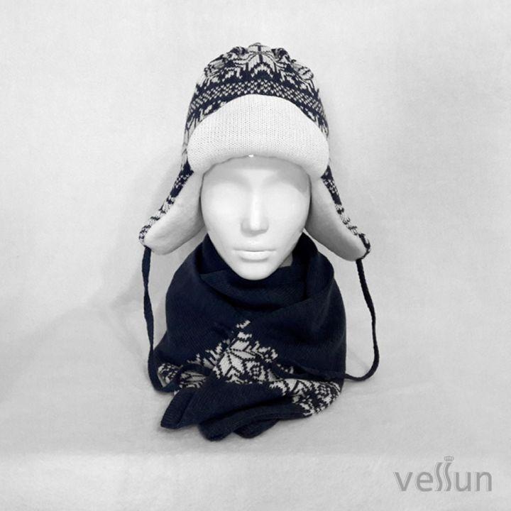 Комплект шапка зимняя и шарф
